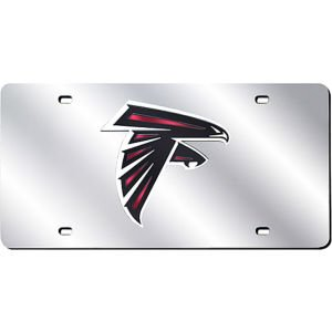 - Rico Atlanta Falcons SILVER Laser Cut Etch Mirrored License Plate Tag NFL Football