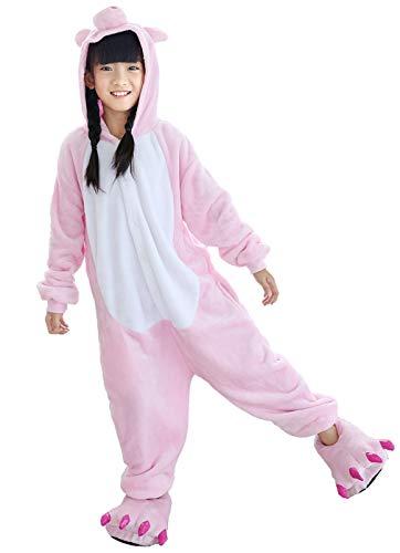 Piece 10 Pig (Beskie Kids Onesie Pajamas Unisex Animal Costume Sleepwear with Monster Slipper Age 2-10)