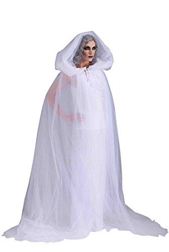 Forum Novelties Women's The Haunted Adult Ghost Costume, White, Standard