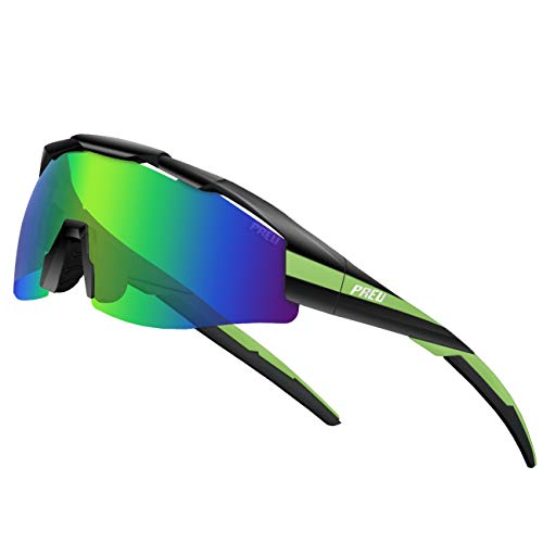 PREU Unisex Polarized Sports Sunglasses for Men Women Cycling Running Driving Fishing Golf Baseball Glasses S1495
