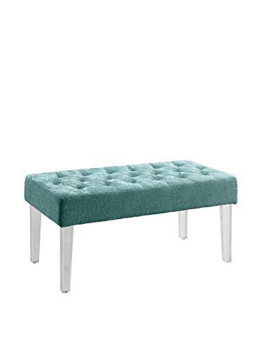 ella acrylic leg teal bench