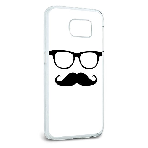 Hipster Glasses - Mustache Snap On Hard Protective Case for Samsung Galaxy S6