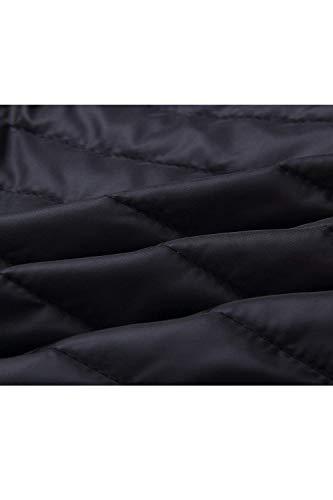 Cómodo Acolchado Invierno Acolchada Elegantes Modernas Unicolor Cremallera Moda Chaqueta Manga Encapuchado Negro Abrigos Plumas Casual Parkas Mujer Larga Ligeramente Otoño dqXPywRR