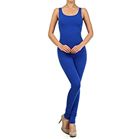 - 3198CuEJ7eL - Leggings Depot Cotton Spandex Jersey Tank Unitard Made in USA (3X, Royal Blue)