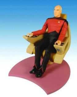 UPC 699788176757, Star Trek: The Next Generation: 20th Anniversary Captain Picard in Chair Action Figure Set