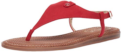 Circus by Sam Edelman Women's Carolina Flat Sandal, Retro red Microsuede, 7 M US