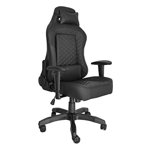 KW- G52A Height Adjustment Ergonomic Series Racing Style Gaming Office Chair with Headrest Lumbar Pillows Swivel Rocker Recliner E-Sports Chair Gaming Chair Video Game Chair Computer Chair Black