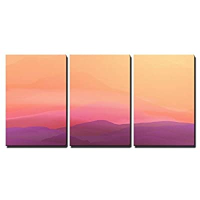 Abstract Smooth Blurred Mountain Landscape Vector Illustration x3...