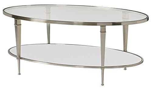 Hammary Glass Top Cocktail Table