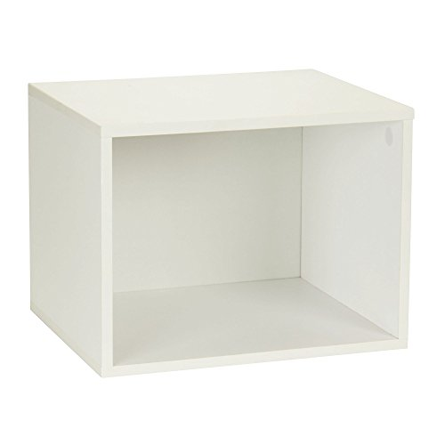 Household Essentials 8001-1 Modular Single Cube Storage Cubby | White - Open Cube Storage System