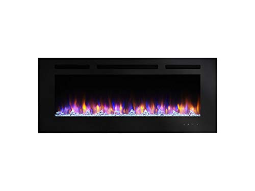 SimpliFire SF-ALL60-BK Allusion Linear Wall Mount Electric Fireplace, 60-Inch (Direct Mount Wall Bk)