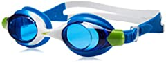 Speedo water accessories are unmatched in performance, fit, and feel. The Skoogles Goggle for kids is super comfortable and features fun multi colored frames and split head straps. This is the perfect kid's recreational goggle for pool swimmi...