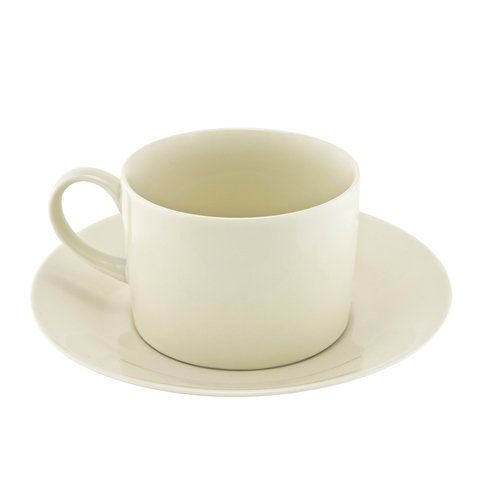 Ten Strawberry Street RCR0009 Royal Cream Can Cup and Saucer 8 oz - Pack of 6