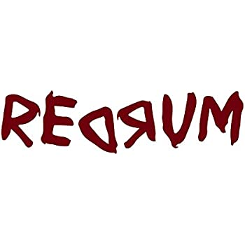 ANGDEST The Shining Redrum (BURGUNDY) Waterproof Vinyl Decal Stickers for Laptop Phone Helmet Car Window Bumper Mug Tuber Cup Door Wall Decoration  sc 1 st  Amazon.com & Amazon.com: Redrum From the Shining- Halloween Wall Decal- 24x5 (Red ...