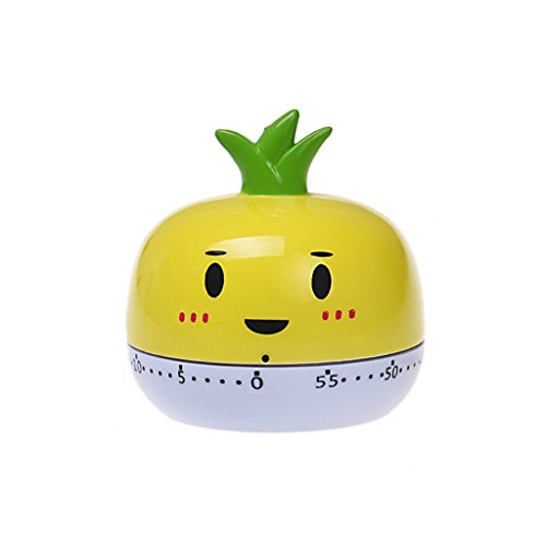 Tosangn Assorted Colors Mini Cute Animal Kitchen 55Mins Cooking Timer Countdown  Yellow