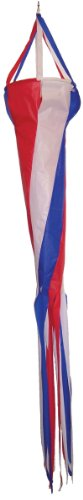 In the Breeze Red, White and Blue Spinsock, 48-Inch