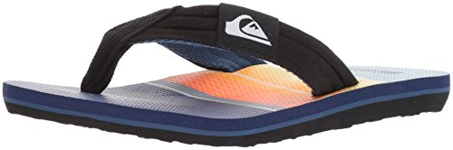 Quiksilver Boys' Molokai Layback Youth Sandal, Black/Orange/Blue, 11 M US Little (Orange Kids Sandals)