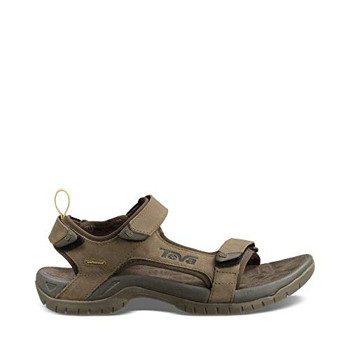 Teva Men's Tanza Leather Sandal,Brown,8.5 M ()