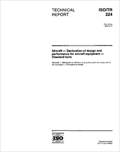 ISO/TR 224:1998, Aircraft - Declaration of design and