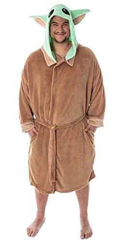 Star Wars Baby Yoda Robe Big and Tall The Mandalorian Baby Yoda Bathrobe Plus Size Costume Robe