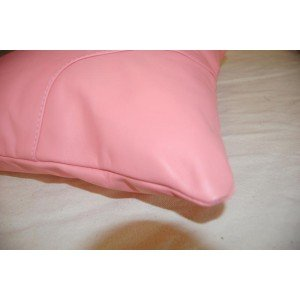 40 Cms Pale Pink Real Leather Scatter Cushions Amazon Co Uk