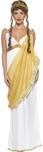 Ladies Helen of Troy Historical Greek Goddess Roman Toga Myths and Legends Heros & Villains Fancy Dress Costume (UK 12-14) White ()