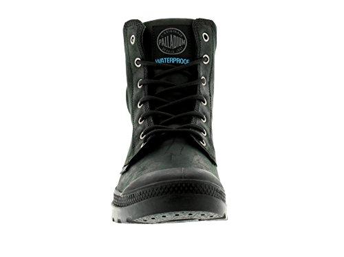 NEUF POUR HOMMES/HOMMES Noir palladium pampa Manchette à lacets Bottines - Noir/Noir - tailles UK 6-12