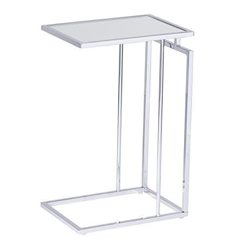 (Holly & Martin - Laptop Table Also Used for Bedside Table, End Table, TV Tray, Accent Table, Couch Desk (Polished Chrome))
