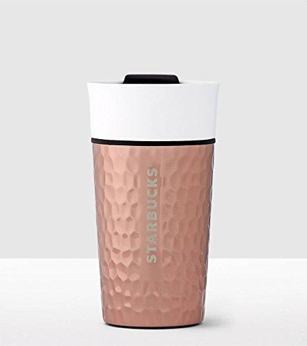 starbucks Ceramic & Stainless Steel Traveler - Dimpled Copper