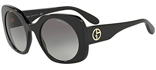 Giorgio Armani Womens Sunglasses Black/Grey Acetate - Non-Polarized - 52mm