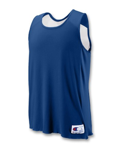 Champion Double Dry Sleeveless (Champion Men`s Double Dry Reversible Jersey,BR01-V,Youth L,Athletic)
