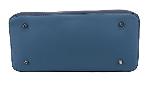 Ted à aspect cuir Sac main Lapidus synthétique 9812 Bleu Marine Tressy qEnBgTw