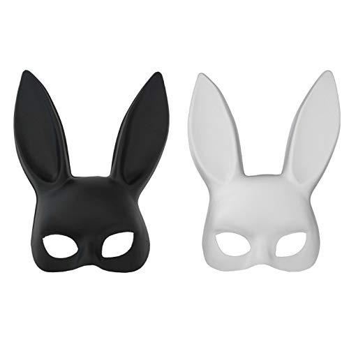 Maskerade Frauen Maske Schöne Erwachsene Kaninchen Bunny Halbe Gesicht Maske Cosplay Kostüm Partei Leuchtende Maske Bekleidung Zubehör