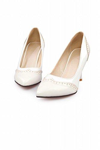 Carol Zapatos Moda Para Mujer Elegancia Surtido De Colores Cuff High Stiletto Talón Bombas Zapatos Blanco