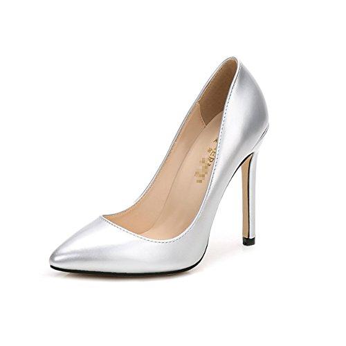 5 Escarpins Femme Maix011 Renly Silver 36 Argenté pour g07aqw