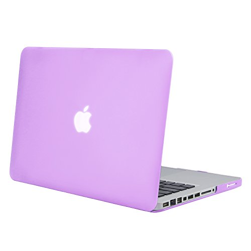 Mosiso Plastic Hard Case Cover Only for Old MacBook Pro 13 Inch with CD-ROM (Model: A1278, Version Early 2012/2011/2010/2009/2008), Purple