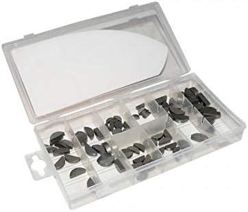 SELECTION P2R Boite de 80 Pieces Motoris/é Clavette Demi-Lune 3x13-3x16-4x13-4x16-4x19-5x19-5x22-6x22mm Assortiment