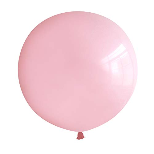 Neo LOONS 36 Inch Giant Latex Balloons, Standard Light Pink Round Balloons for Birthdays Weddings Receptions Festival Party Decoration, Pack of 5 Pcs -