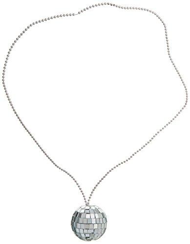 Rhode Island Novelty JNDISC2 2-Inch Disco Ball Necklace with 30-Inch Chain, (Disco Ball Necklace)