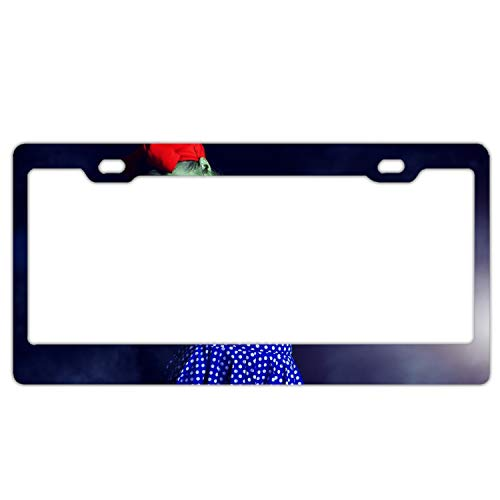KSLIDS Product Express Personalized Holiday Halloween Makeup Zombie License Plate Frame Metal Gills -