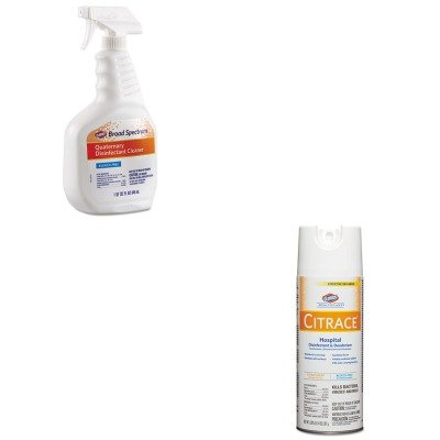KITCOX30649COX49100 - Value Kit - Clorox Broad Spectrum Quaternary Disinfectant Cleaner (COX30649) and Clorox Citrace Germicidal Disinfectant Spray (Quaternary Germicidal Cleaner)