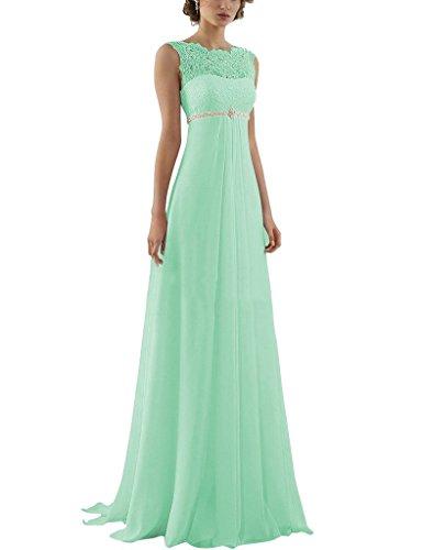 Aurora Bridal 2016 Lace Chiffon Beach Wedding Dresses For Pregnant Women Mint 18W