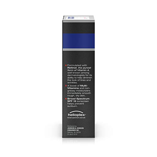 3198fZN8wNL - Neutrogena Age Fighter Anti-Wrinkle Face Moisturizer for Men, Daily Oil-Free Face Lotion with Retinol, Multi-Vitamins, and Broad Spectrum SPF 15 Sunscreen, 1.4 oz