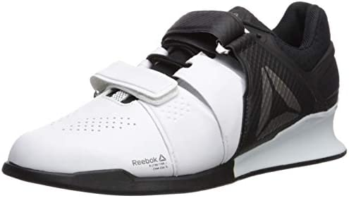 Reebok Legacy Lifter Mens Weightlifting Shoes US Sz 11 White//Black//Pewter BD1793