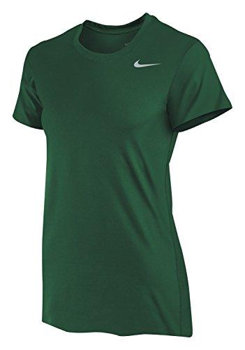 (Nike Women's Dri-Fit Legend Short Sleeve T-Shirt, Dark Green, Small)