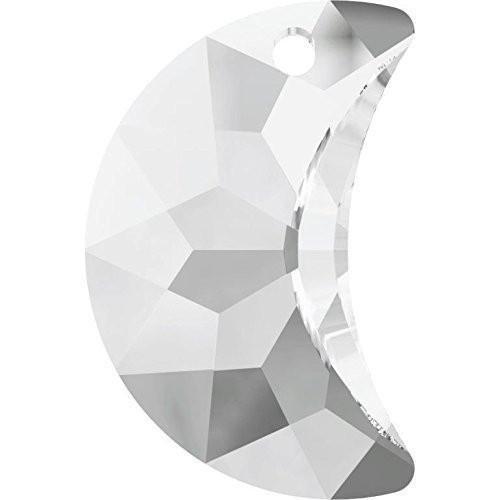 - 6722 Swarovski Pendant Moon | Crystal | 30mm - Pack of 1 | Small & Wholesale Packs