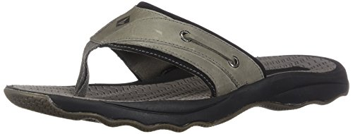 clearance discounts new arrival for sale Sperry Top-Sider Men's Outer Banks Thong Sandal Grey/Black cheap best sale cheap view clearance deals xtWnPnf