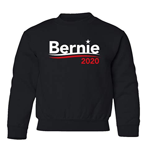 KING THREADS Vote for Bernie Sanders Election 2020 for President Unisex Youth Sweatshirt Crewneck Sweater (Black, Youth Small)