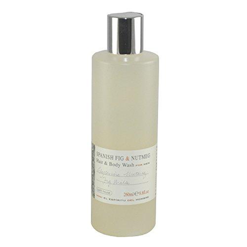 The Bath House Spanish Fig & Nutmeg Hair & Body Wash for Men, 8.80 Ounce ()