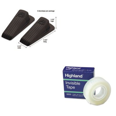 KITMAS00971MMM6200341296 - Value Kit - Master Caster Big Foot Doorstop (MAS00971) and Highland Invisible Permanent Mending Tape (MMM6200341296)